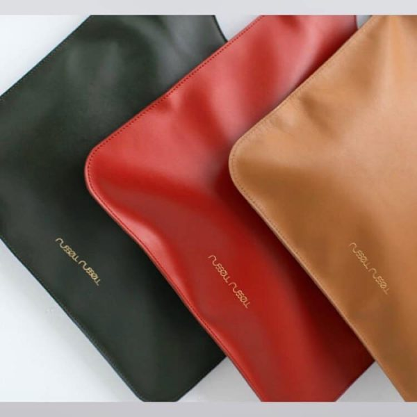 green red camel leather bags