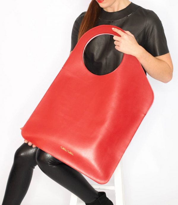 large red bag