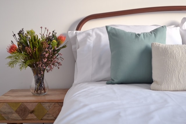 Virgo and Co - Sage Green Tencel Square Cushion