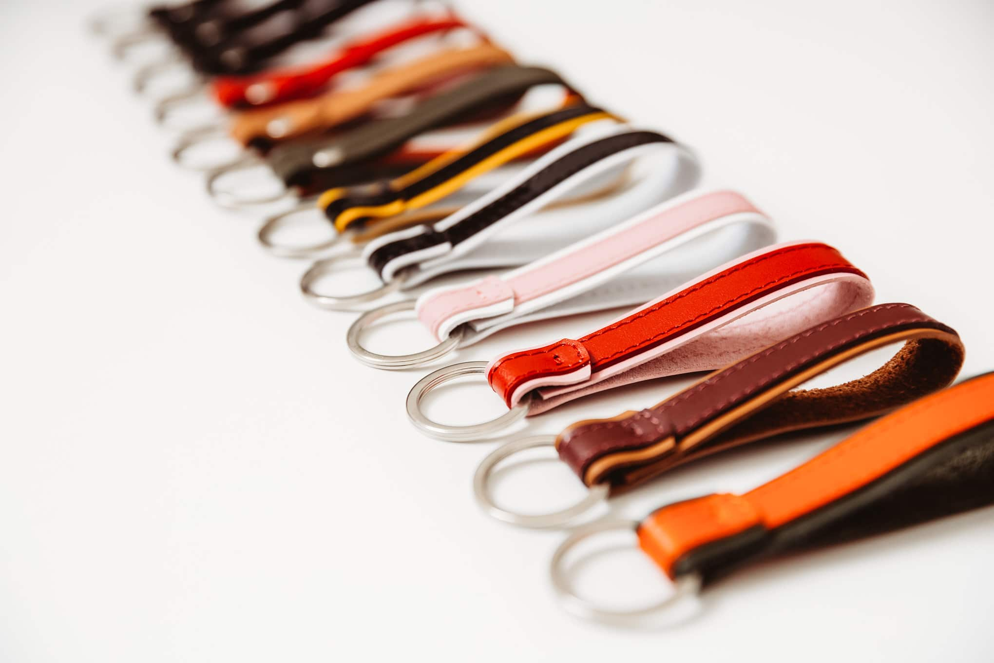 leather keychains keyrings
