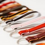 italian leather keyrings